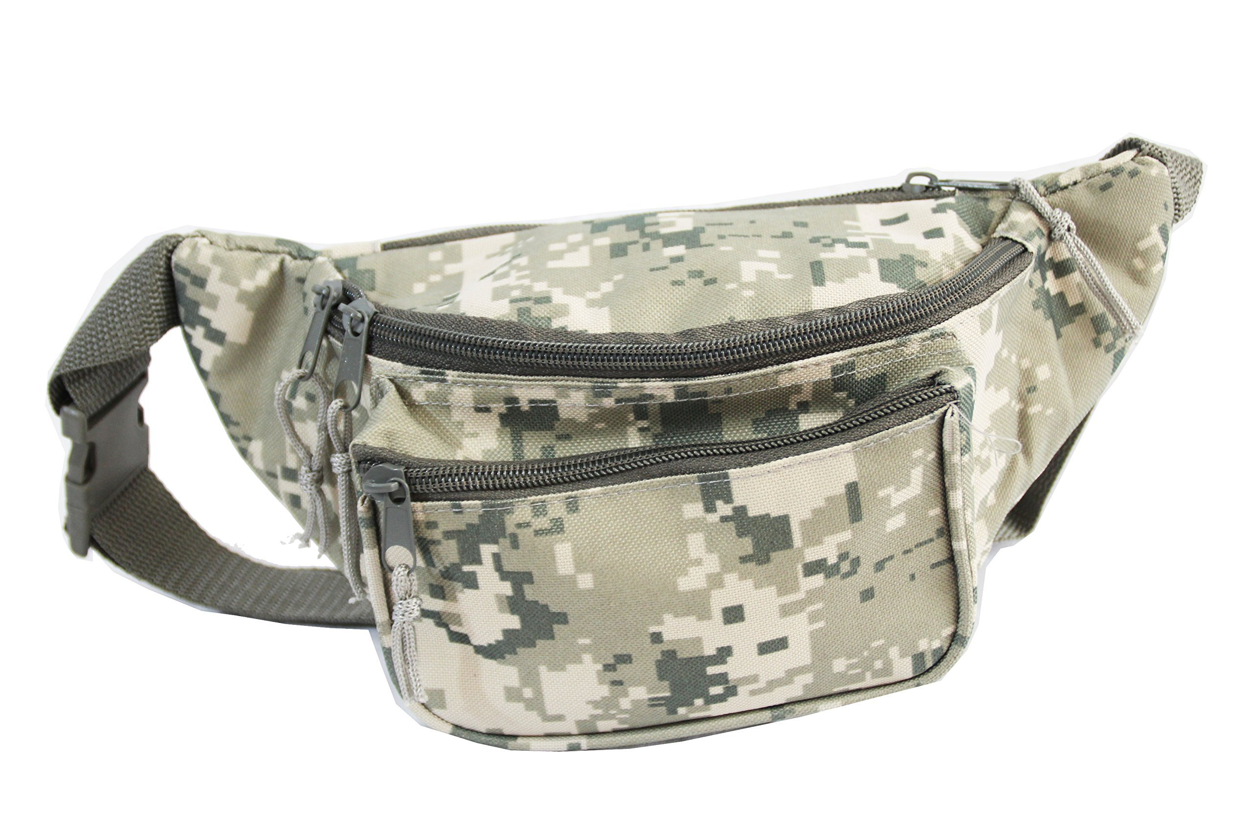 Xtitix Military Tan Digital Camouflage 3 zipper pocket Fanny pack Waist Bag Camo by Xtitix (Image #1)