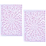 eBoot 650 Pieces Self Adhesive Bling Rhinestone Stickers (Pink)