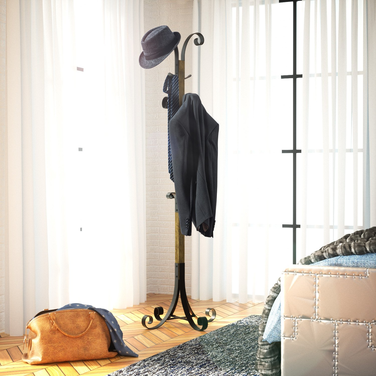 Perfect Free Coat And Boot Rack Image: RooLee Coat Rack Free Standing Clothes Tree Coat Hanger