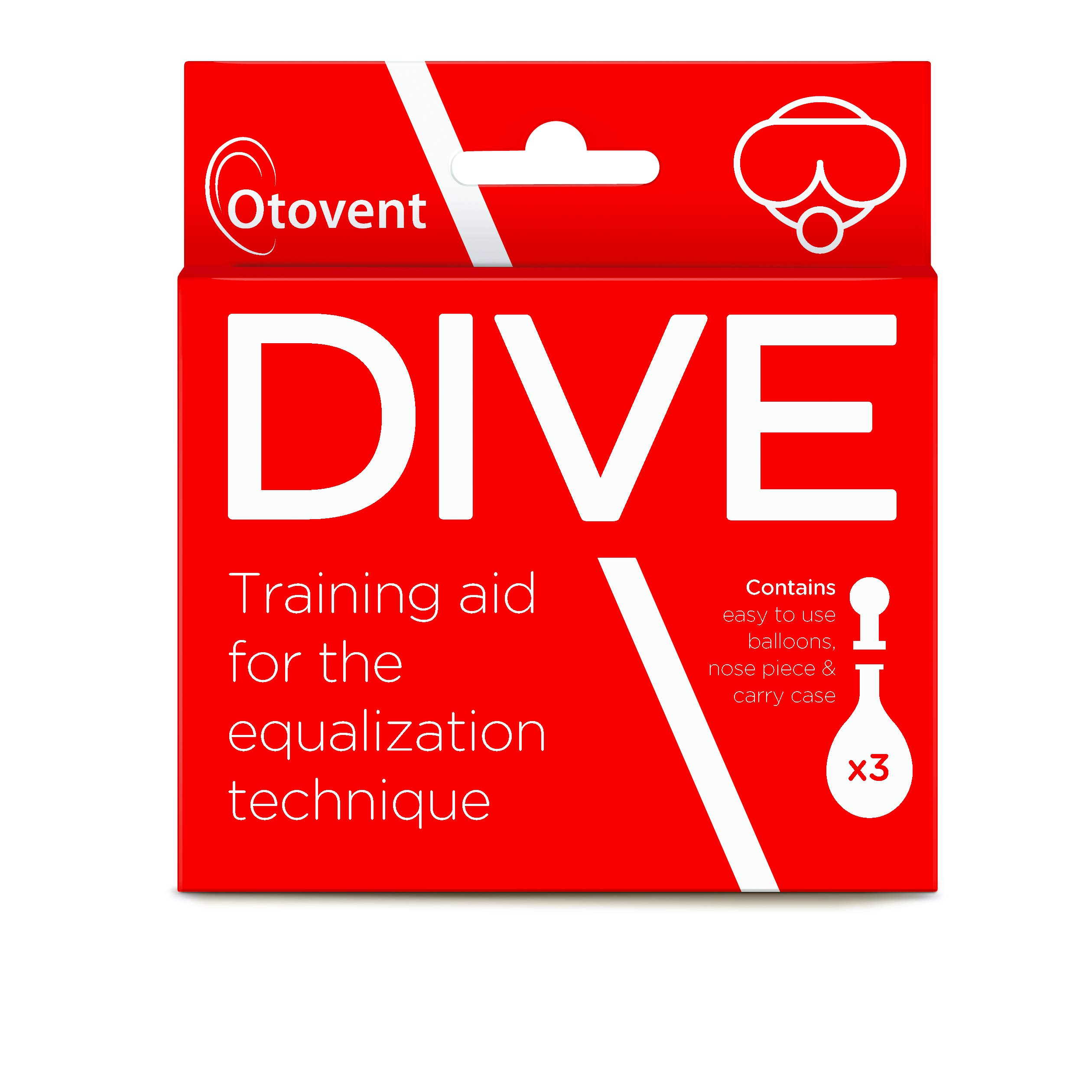 Otovent Dive Autoinflation Device, Red, 3 Count