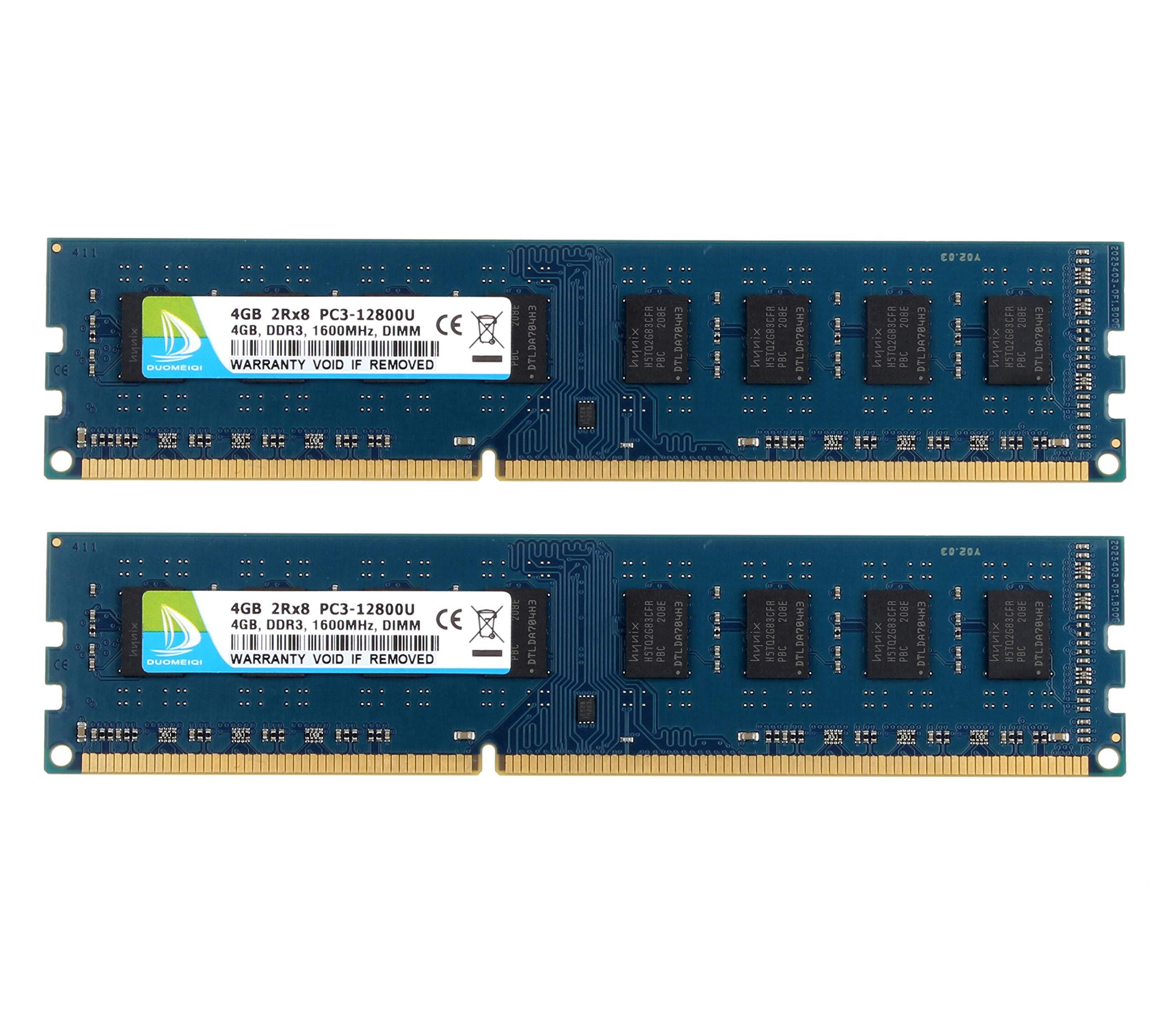 Memoria Ram 8GB (2X4GB) DDR3 1600MHZ PC3-12800 DUOMEIQI