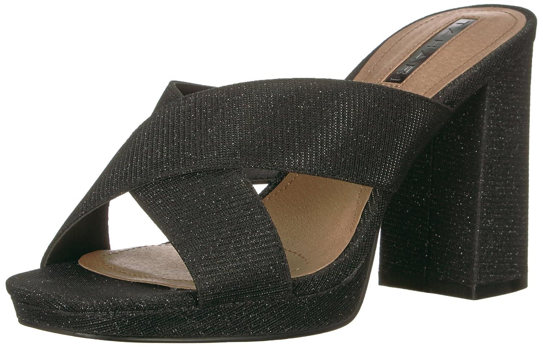Tahari Women's Posey High Heeled Sandal B01MTDEYKT 6 B(M) US Black Sparkle