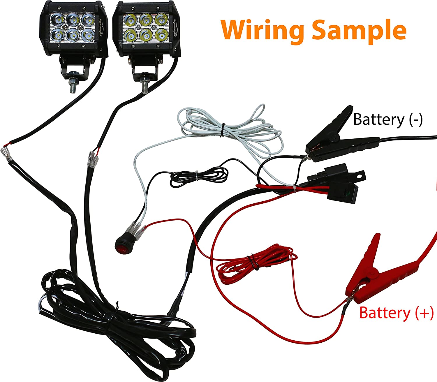 Epauto Led Light Bar Wiring Harness Kit 12v 40a Relay Im Looking For A Sample Electrical Wire And Switch Diagram Fuse On Off Automotive