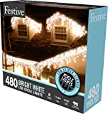 480 White LED Snowing Icicle Lights