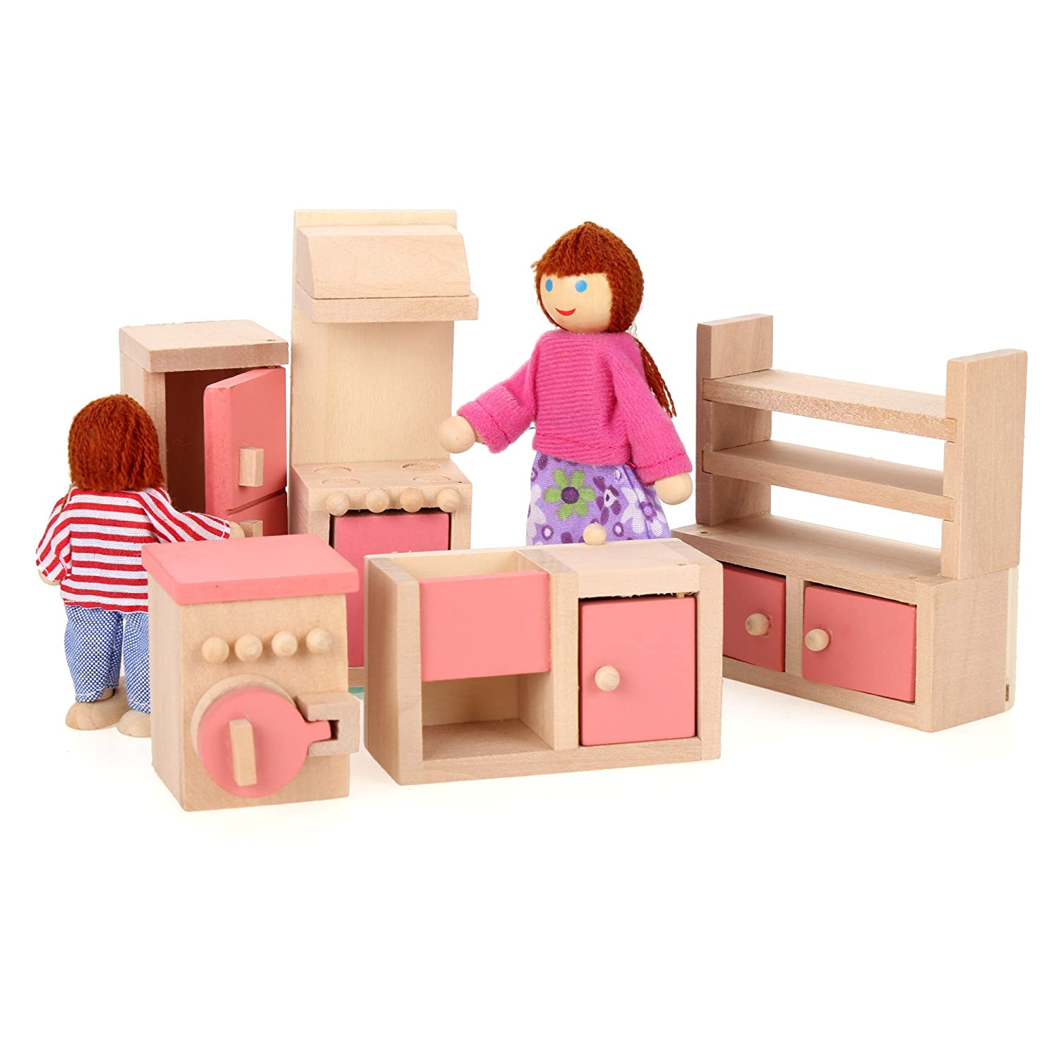 doll house furniture sets. Amazon.com: Arshiner Happy Family Doll House Furniture Livingroom Set,Pink: Toys \u0026 Games Sets