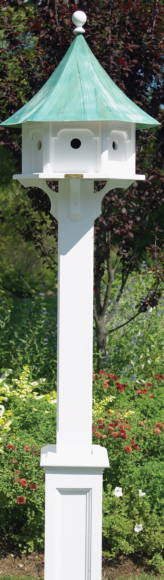 Good Directions Lazy Hill Farm Designs 999132 Hammersley Vinyl Post for Bird Houses, 104-Inch, White by Good Directions