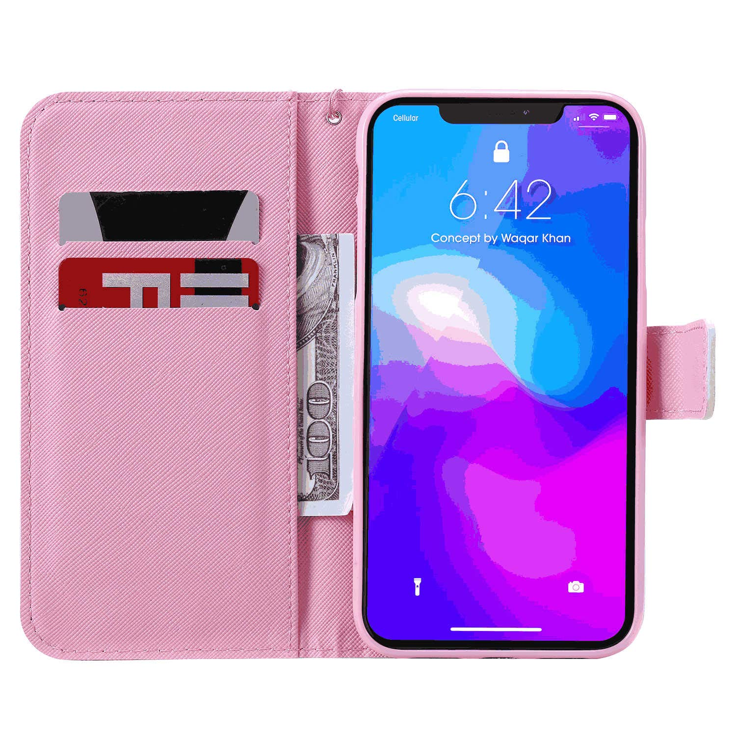 Samsung Galaxy S10E Flip Case Cover for Samsung Galaxy S10E Leather Extra-Shockproof Business Card Holders Kickstand Wallet case with Free Waterproof-Bag