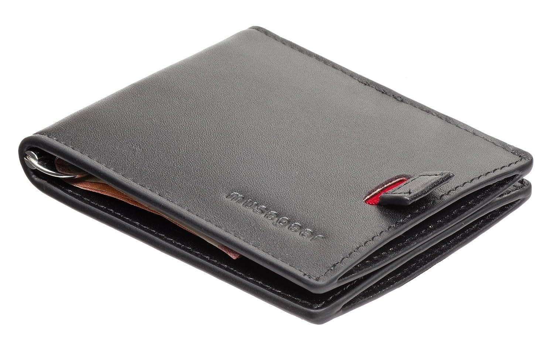musegear - portefeuille pour homme super mince  (cartes seulement ) en  véritable cuir 7f6c7ecd7ef