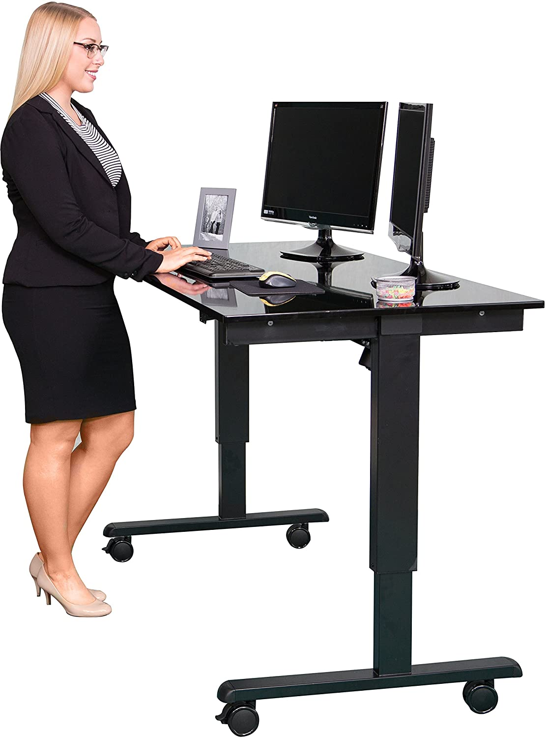 amazon com stand up desk store electric standing desk adjustable rh amazon com desk stand up printable display signs desk stand up or sit down