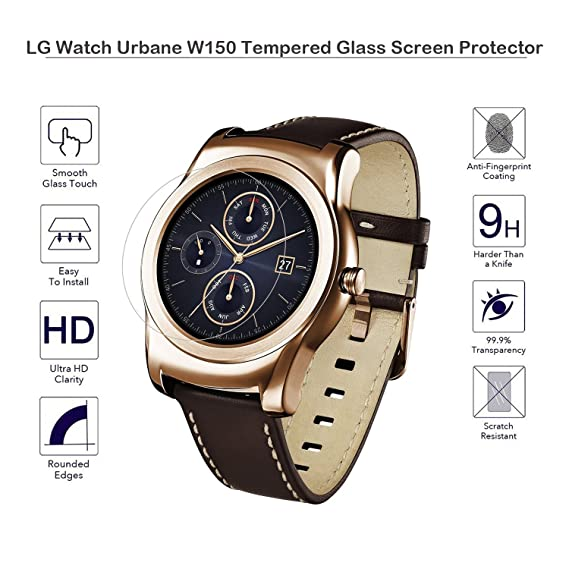 MOTONG Tempered Glass Screen Protector for LG Watch Urbane W150 (LG W50)