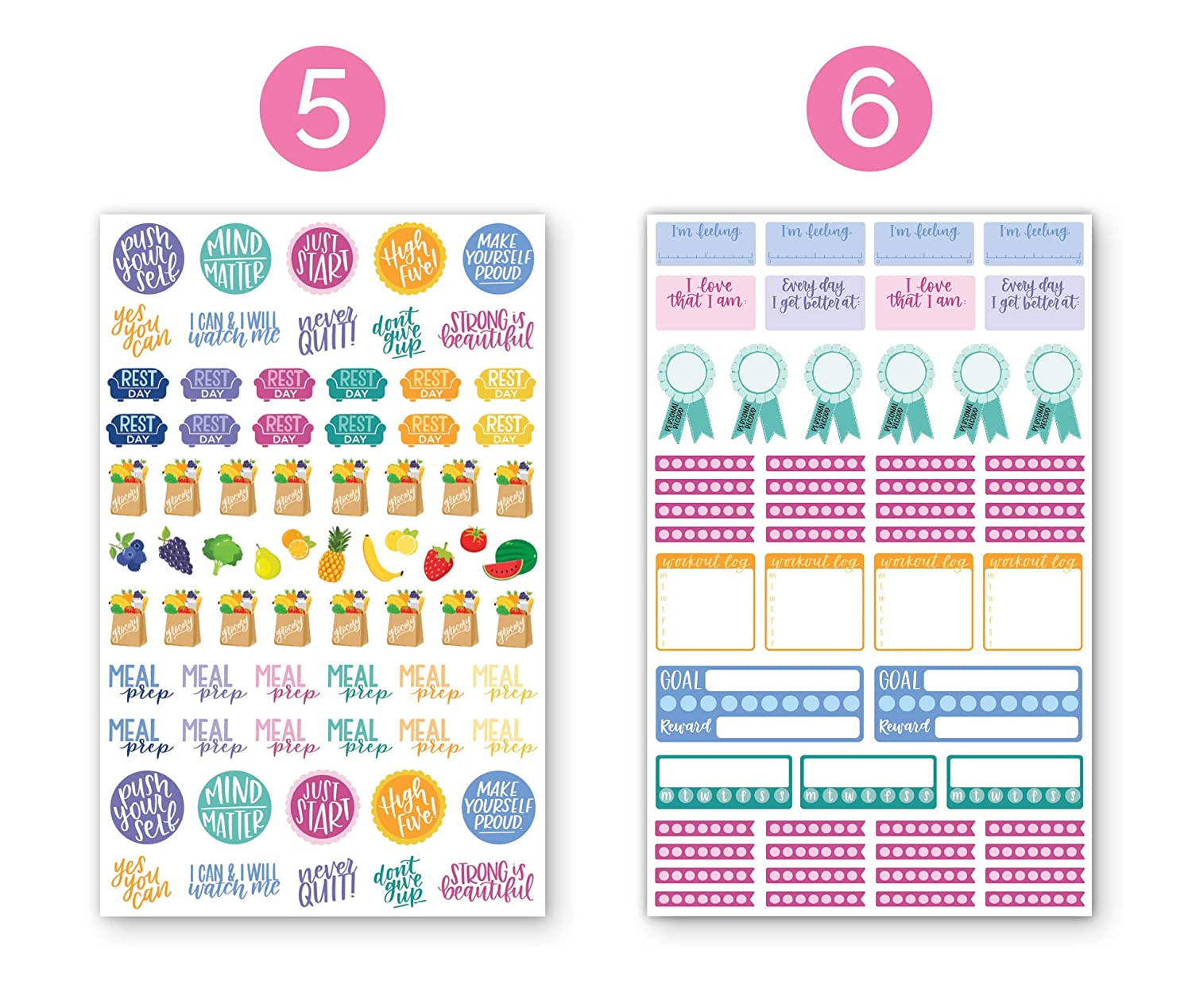 1//4 Dot Labels 1000+ Stickers Per Pack! bloom daily planners Color Coding Planner Stickers Six Sheets