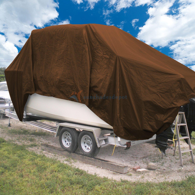 Sunshades Depot 9 x 12 Feet Super Heavy Duty 16 Mil Waterproof Dark Brown Poly Tarp
