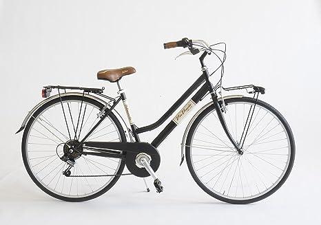 Bicicletta 605 Donna Made In Italy Via Veneto Nero Polvere Di Caffè