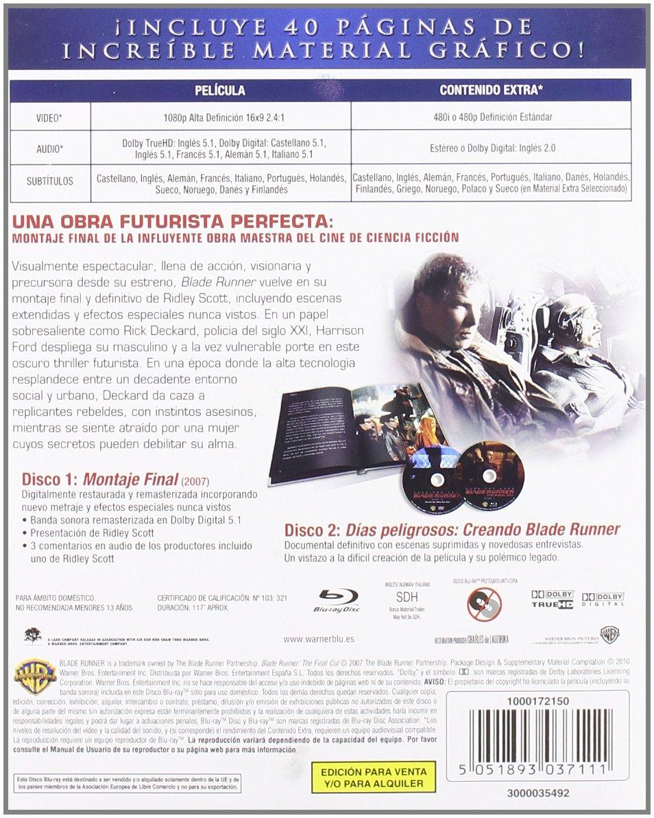 Blade Runner: Montaje Final - Edición Libro [Blu-ray ...