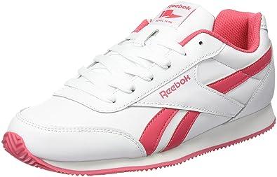 Reebok Damen Royal Cljog 2 Laufschuhe, Weiß/Rosa (White/Fearless Pink)
