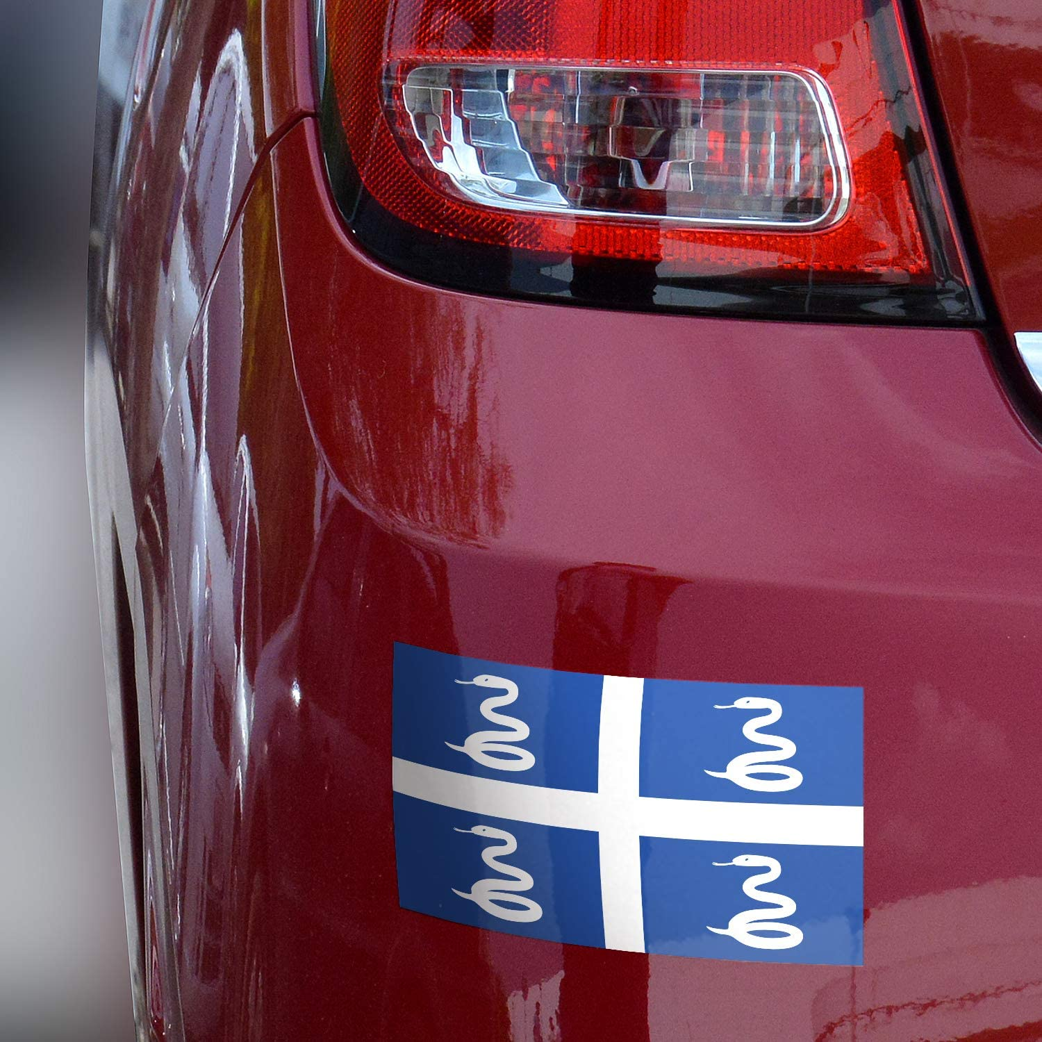 Martinique Sticker Waterproof Materials 3x5 Martinique Flag Bumper Sticker 3-Pack Made with Durable Martinique Snake Flag Bumper Sticker Flag of Martinique Bumper Sticker