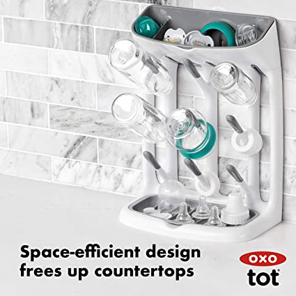 Amazon.com: OXO Tot - Escurreplatos de ahorro de espacio ...