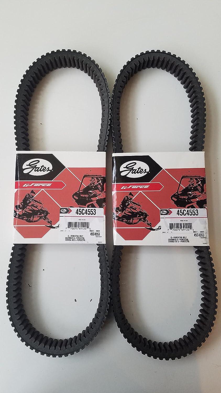 Polaris Pro RMK 800 Belt Axys Assault SKS 155 163 2016-2018 Gates CVT Carbon Belt 45C4553 2-Pack
