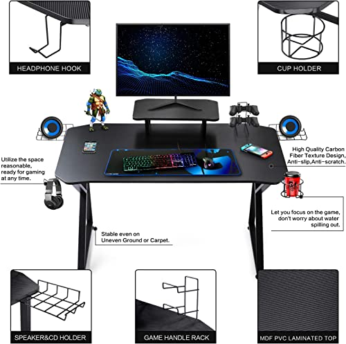 Gaming Desk 39 Inch Computer Desk Gaming Table K Shaped Pc Gaming Workstation Home Office Desk