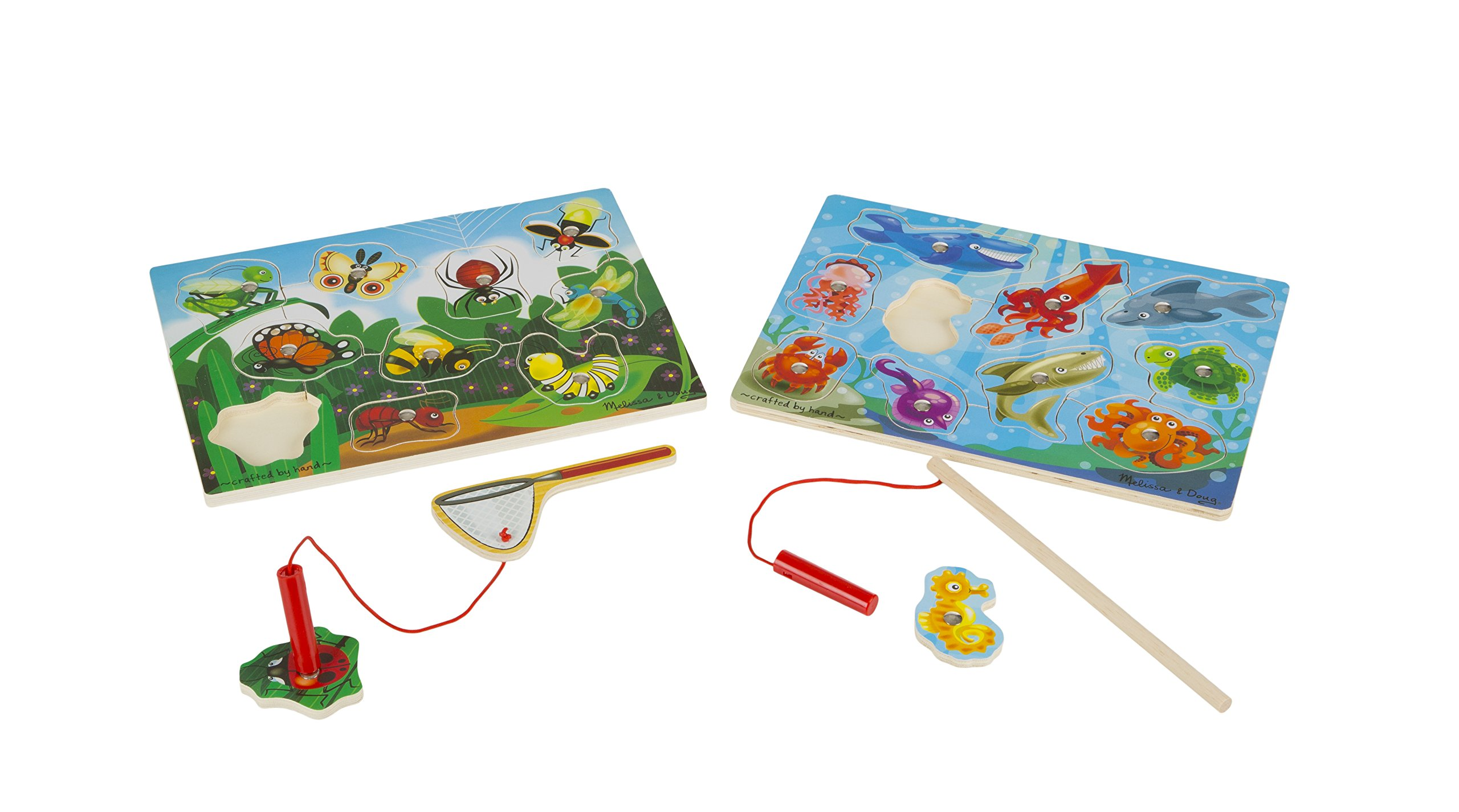Melissa & Doug Magnetic Wooden Puzzle Game Set: Fishing and Bug Catching by Melissa & Doug (Image #5)