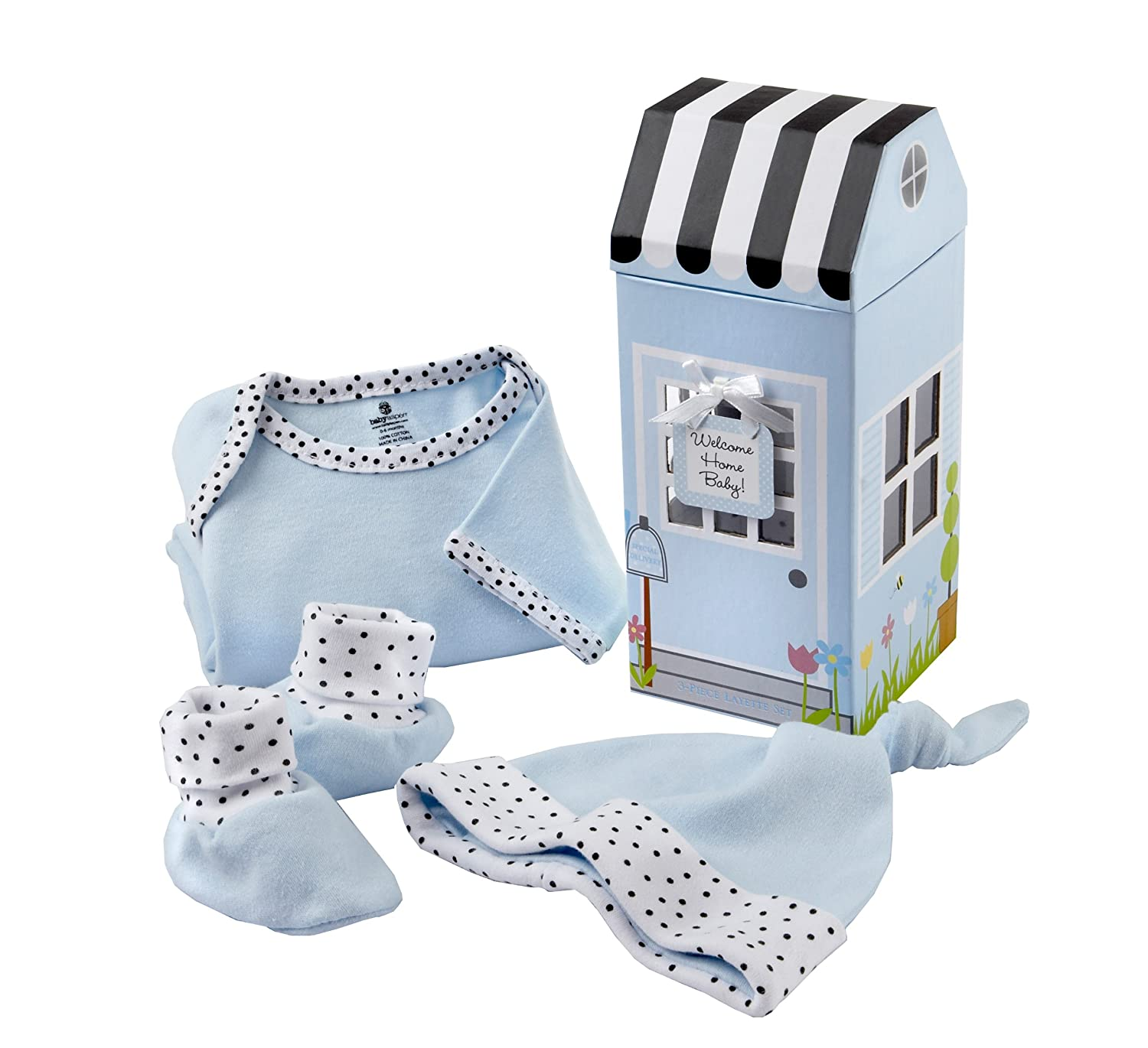 Amazon.com : Baby Aspen Welcome Home Baby 3-Piece Layette Gift Set ...
