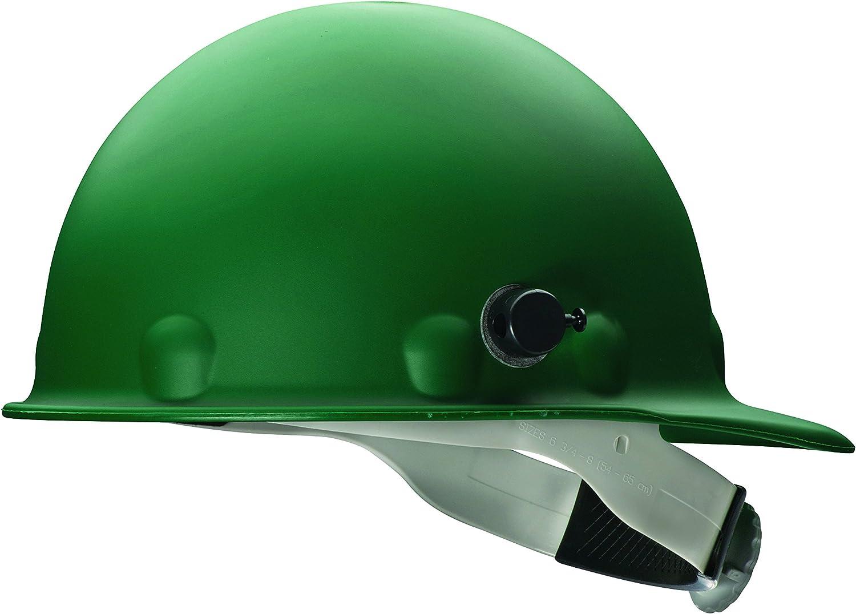 Fibre-Metal 280-P2HNQRW74A000 Roughneck P2HN Hard Hats, 8 Point, Quick-Lok Mounting Blocks, One Size, Green