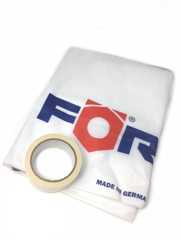 foerch protezione antipolvere porta 2, 20 m x 1, 10 m protezione antipolvere bautuer porta sacchetti in tessuto non tessuto con chiusura lampo e nastro biadesivo riutilizzabile. 20m x 1 Förch