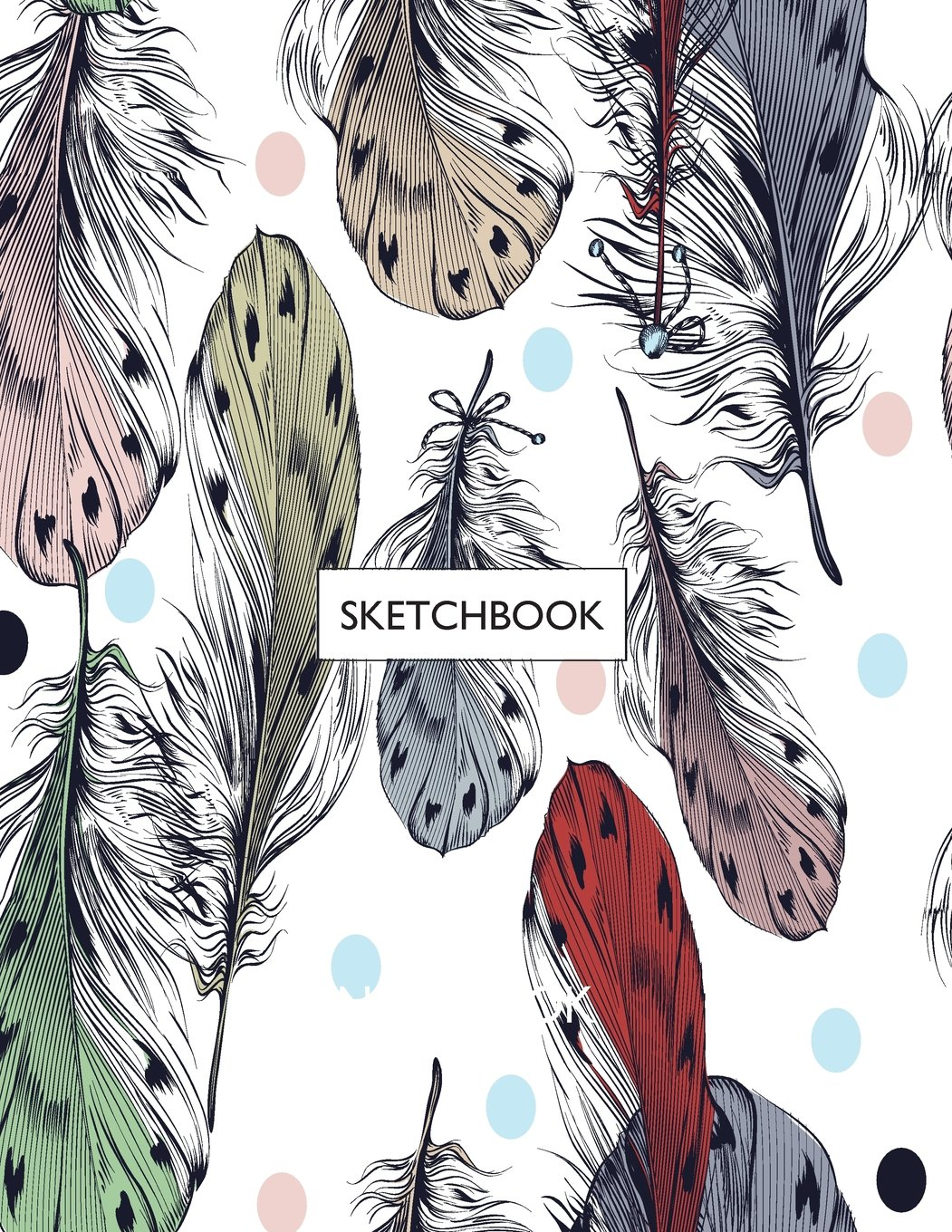 Sketchbook peacock feathers cover 8 5 x 11 inches 110 pages blank unlined paper for sketching drawing whiting journaling doodling peacock