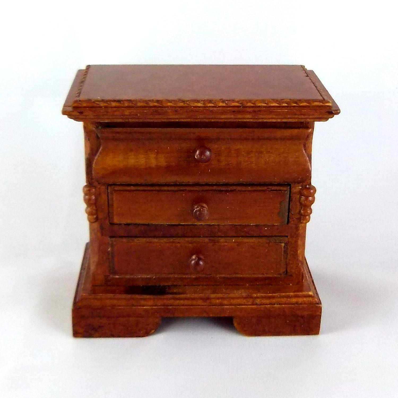 Dollhouse Miniature Nightstand T6382 Walnut