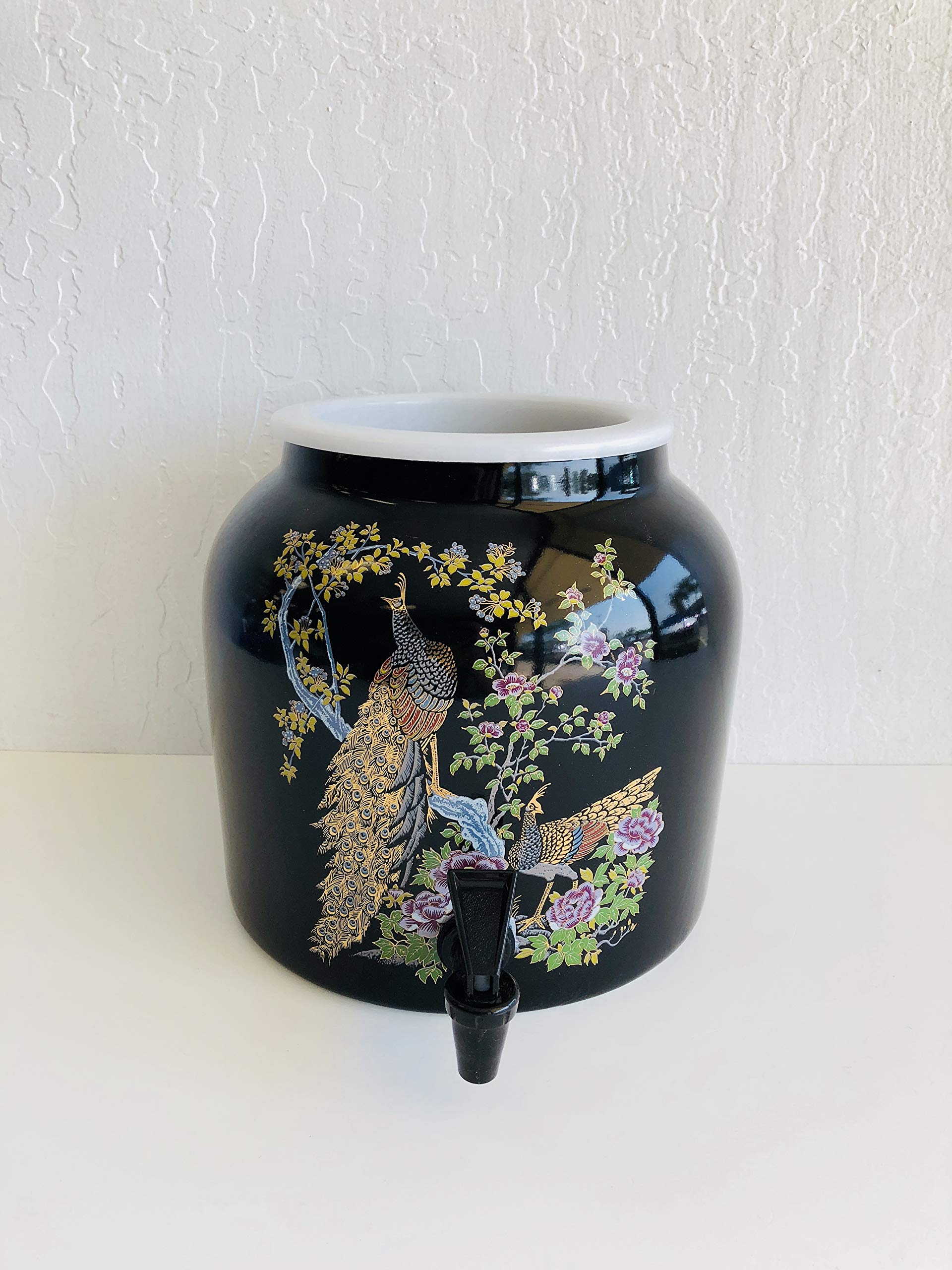 Ceramic Water Dispenser- Peacock Spring Dance