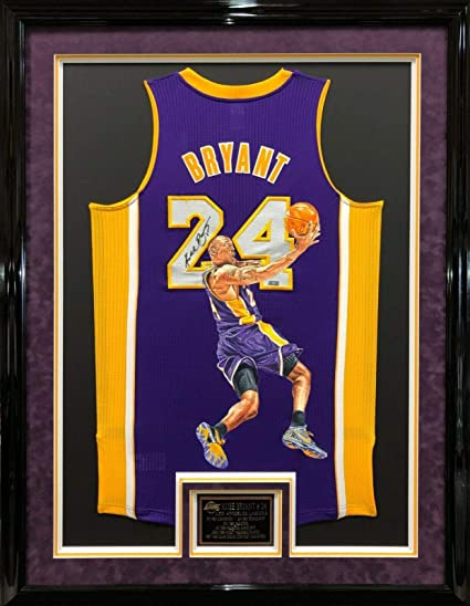 best loved b8752 eb6ce Signed Kobe Bryant Jersey - & Framed Painted Panini PA27225 ...
