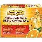 Emergen-C® Super Orange (30 Count), 1000mg Vitamin C / Electrolytes / B Vitamins Mineral Supplement