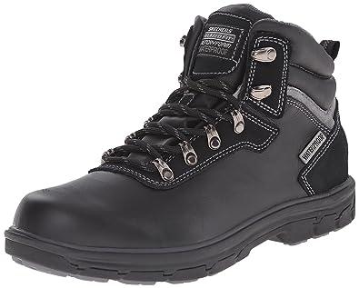 Skechers Men's Relaxed Fit Segment Ander Boot,Black,US 6.5 M