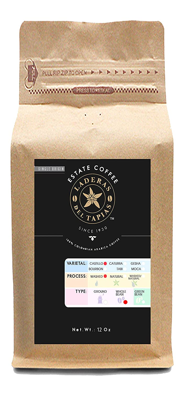 Premium Natural Caturra Coffee Whole Bean - Estate Laderas del Tapias Colombia Image
