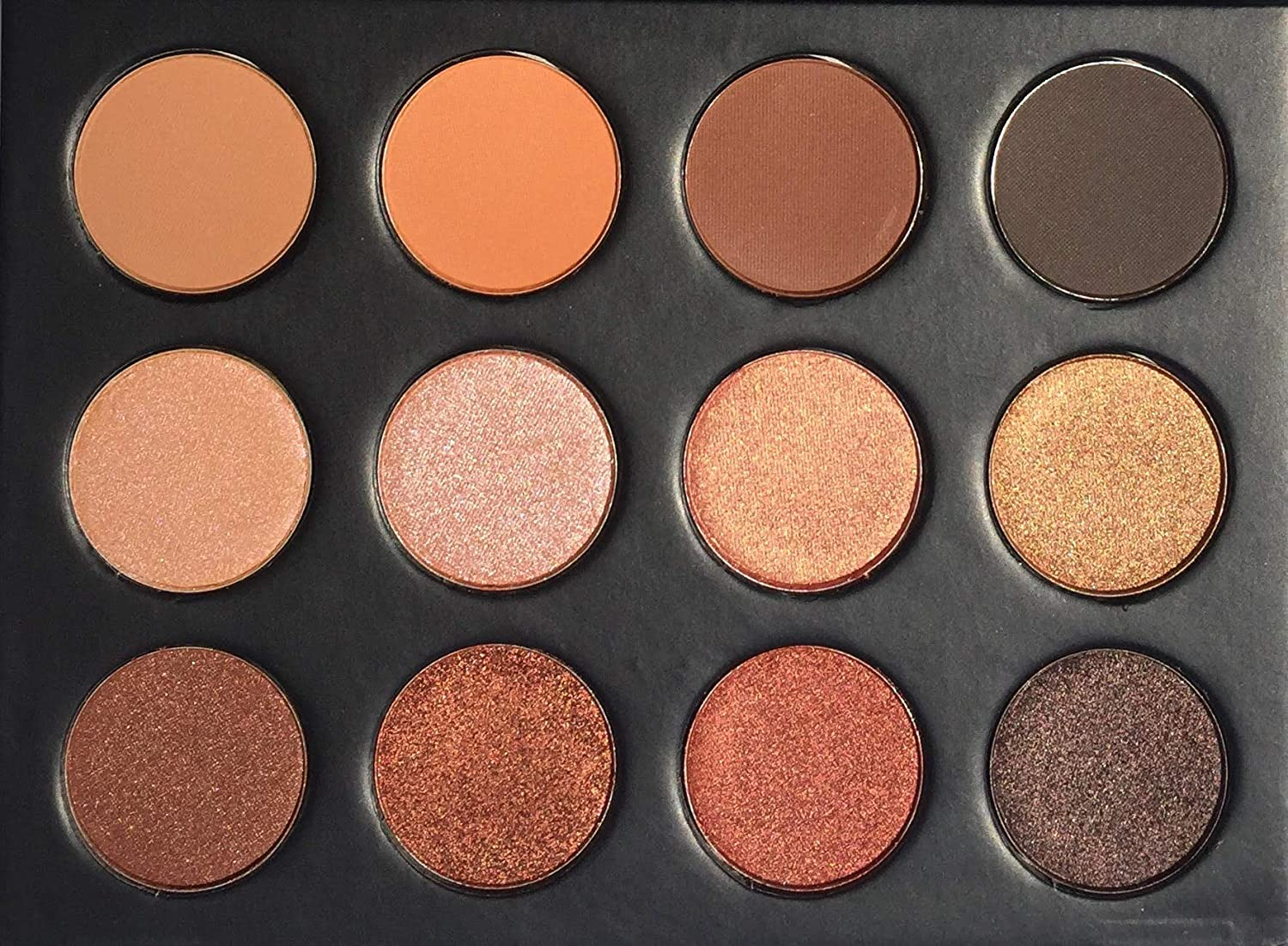 Koko Eyeshadow Pro Makeup Palette – 12 Highly Pigmented Matte and Shimmer Colors – Nudes Warm Natural Bronze Neutral Smoky Eye Professional Cosmetic Eyeshadow