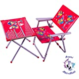 MetroBuzz A-1 Kids Study and Dinning Table Chair Set for 2 to 6 Years Old Kids