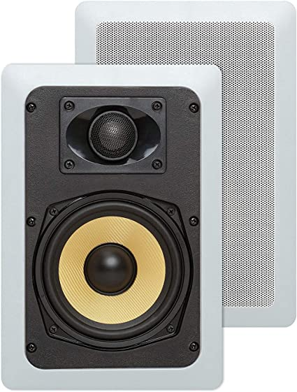 "In Wall Speakers Pair 5.25/"" Ceiling Rectangular Surround Sound Kevlar Rectangle"
