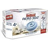Unibond 2106199Aero 360 - Recambios de aromaterapia para absorbente de humedad (4 unidades), blanco