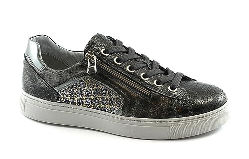 timeless design f2ba4 dce3f NERO GIARDINI 19521 grigio scarpe sneakers donna sportive zip laterale  lacci gli - mainstreetblytheville.org
