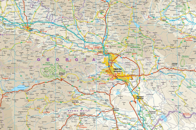 Georgia, mapa impermeable de carreteras. Escala 1:350.000 impermeable. Reise Know-How.: worldmappingproject: Amazon.es: VV.AA.: Libros