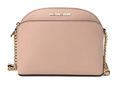 a596b36b7d8759 Michael Kors Emmy Medium Leather Crossbody Bag in Ballet: Handbags ...