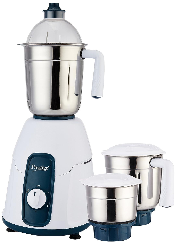 Prestige Stylo 750-Watt Mixer Grinder (White/Dark Blue)