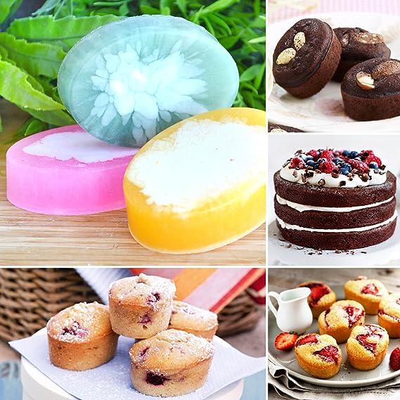 Jabón Moldes - Molde de silicona para hornear pan - caseras Craft DIY soapmaking moldes - MINI molde para Brownie Friand pasteles (Cornbread Pudding Panna ...