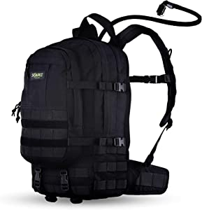Source Tactical Assault 20L Hydration Backpack - Includes 3L WLPS Low Profile Hydration Bladder - High-Flow Storm Drinking Valve - Molle Webbing