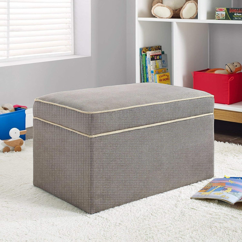 Dark Taupe Baby Relax Hadley Storage Ottoman