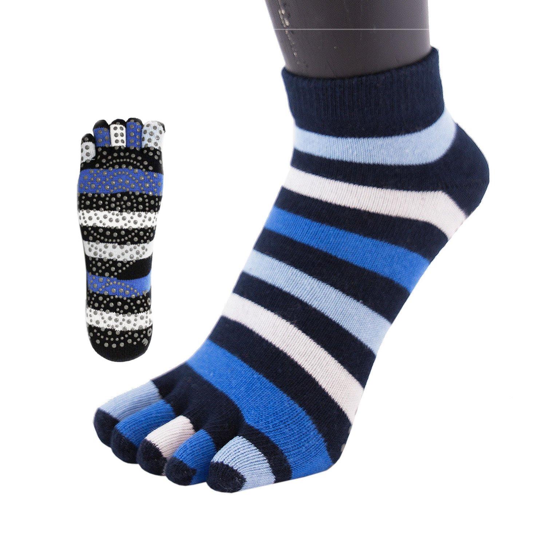Toetoe–Yoga et Pilates–Semelle antidérapante Trainer Chaussettes à orteils 28460da359b