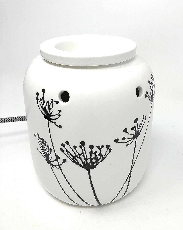 Scentchips Elektrische Duftlampe St/övchen Brenner ZWEIGE Keramik wei/ß