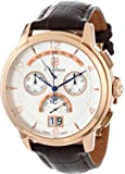 S.Coifman Men's Quartz Watch with Silver Dial Analogue Display and Brown Leather Strap SC0180