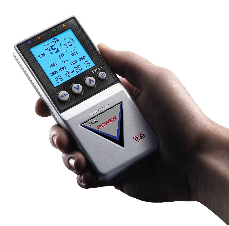Tesmed Max  POWER electroestimulador muscular tipos de tratamientos abdominales aumento muscular
