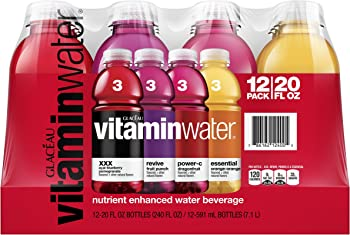 12-Pack Vitaminwater Variety Pack (20 fl oz)
